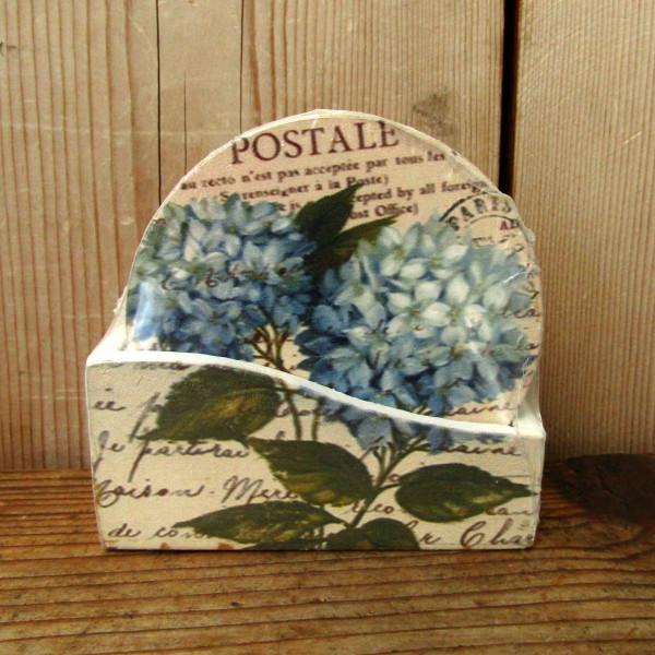 Poháralátét kék virág 1200230